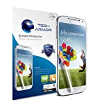 Tech Armor Samsung Galaxy S4 SIV (NOT S4 ACTIVE) Premium High Definition (HD) Clear Screen Protectors with Lifetime Replacement Warranty [3-Pack] – Retail Packaging