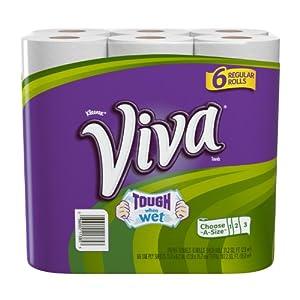 Viva Regular Roll Choose-A-Size Towels, 6 ct