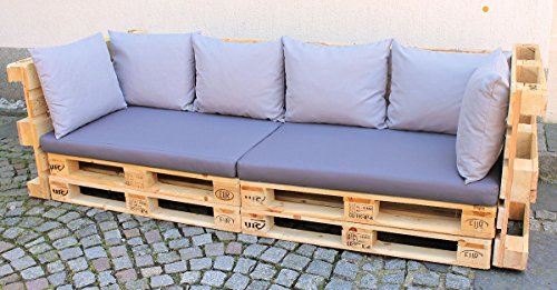 polster f r palettensofa europalette palettenpolster palettenkissen set 8 teilig fb grau. Black Bedroom Furniture Sets. Home Design Ideas
