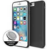 iPhone 6s Case, Maxboost Protective Apple iPhone 6 / 6s Case (4.7 inch)+ Magnetic Car mount [Black/Grey] - Air Vent Car Mount Holder Accessories and integrated Magnetic Metal case Cover