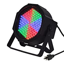 TSSS RGB 127 LEDs PAR Light DMX512 Mixing Color Wash Stage Lighting for Disco DJ Magical Show Parties Live Concert