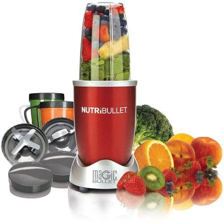 Magic Bullet NutriBullet Nutrition Extraction Mixer/Blender, With 1 High-Torque Power Base As Seen on TV (Magic Bullet Red compare prices)