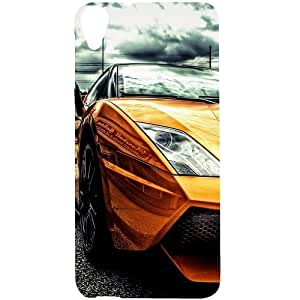 Casotec Street Lamborghini Design Hard Back Case Cover for HTC Desire 820