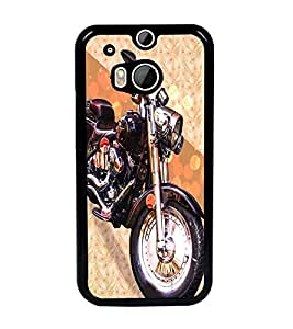 PrintDhaba Bike D-3432 Back Case Cover for HTC ONE M8s (Multi-Coloured)