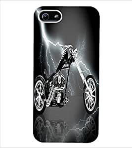 ColourCraft Amazing Bike Design Back Case Cover for APPLE IPHONE 5S