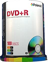 Polaroid PRDVDPR100S DVD+R 4.7GB 120-Minute 16x Recordable DVD Disc, 100-Pack Spindle