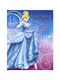 Disney Cinderella Sparkle Invitations (8 count) Party Accessory