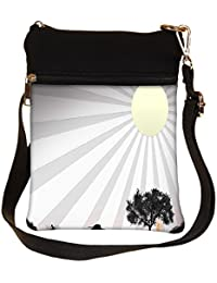 Snoogg Sun Rays Cross Body Tote Bag / Shoulder Sling Carry Bag