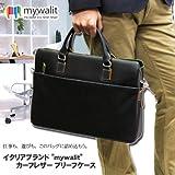 mywalit カーフ レザー ビジネス ブリーフケース ハンドバッグ マイウォリット/マイウォレット MY594