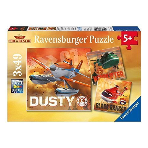 Ravensburger Disney Planes Fire & Rescue: Real Rescue Planes - 3 x 49-Piece Puzzles in a Box by Ravensburger