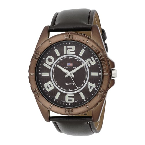 U.S. Polo Assn. Classic Men's US5161 Brown Dial