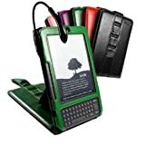 Tuff-Luv Multi-View Spark Leather case cover & stand for Amazon Kindle Keyboard / Kindle 3 - British Racing Green