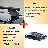 Pack Barres et coffre de toit FIAT STILO 3 et 5 portes [10/2001 -- 12/2008] points de