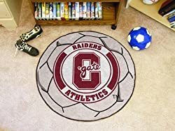 "Colgate Red Raiders 29"" Round Soccer Ball Floor Mat (Rug)"