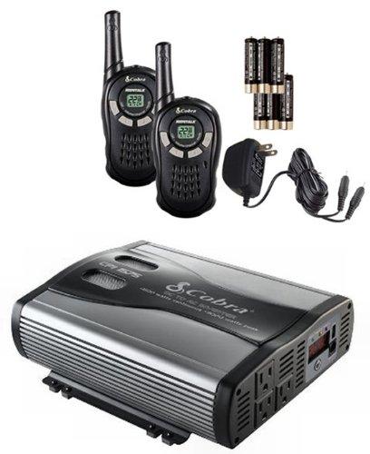 Cobra Cpi1575 3000W Car Dc To Ac Power Inverter + 2 Cxt125 16 Mile 2-Way Radios front-273758