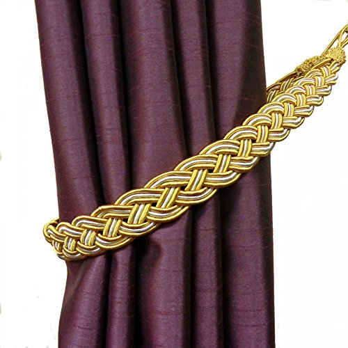 Pair of Gold Rope Drapery