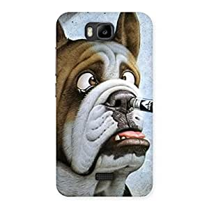 Impressive Big Face Dog Back Case Cover for Honor Bee