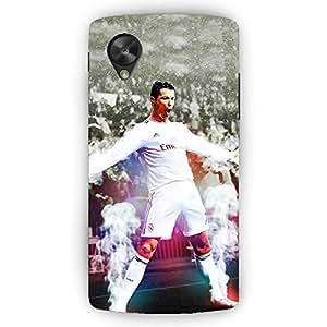 EYP Cristiano Ronaldo Real Madrid Back Cover Case for LG Google Nexus 5