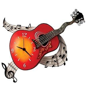 Timewarp Acoustic Guitar Wall Clock