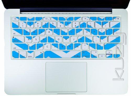 #1  Kuzy - Aqua Blue Chevron Zig-Zag Keyboard Cover for MacBook Pro 13