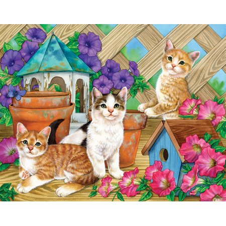 Great American Puzzle Factory Petunia Playmates 300 Piece Puzzle