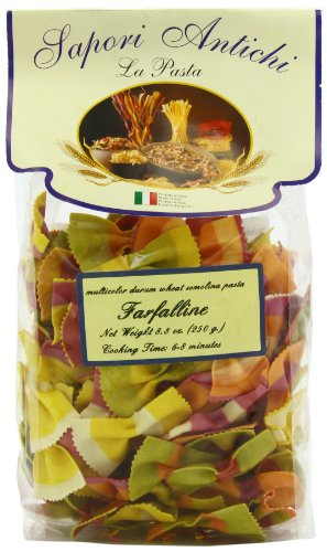Sapori Antichi Pasta, Multicolor Farfaline Bowtie, 8-Ounce (Bow Pasta compare prices)