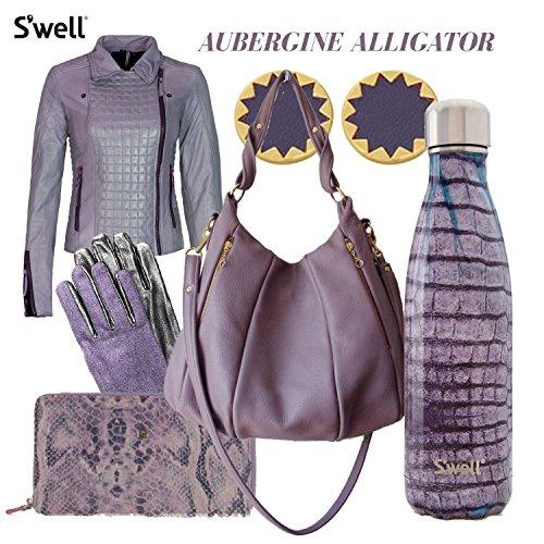 S'well(スウェル) Exotics Collection Aubergine Alligator 500ml 魔法瓶・保温・保冷 エキゾチックコレクション アーバージンアリゲーター