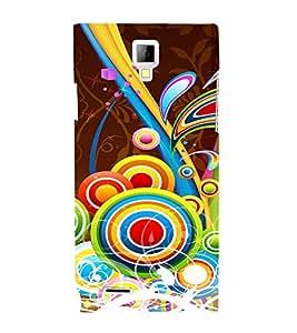 Multicolor Circular Pattern Cute Fashion 3D Hard Polycarbonate Designer Back Case Cover for Micromax Canvas Xpress A99 :: Micromax A99 Canvas Xpress