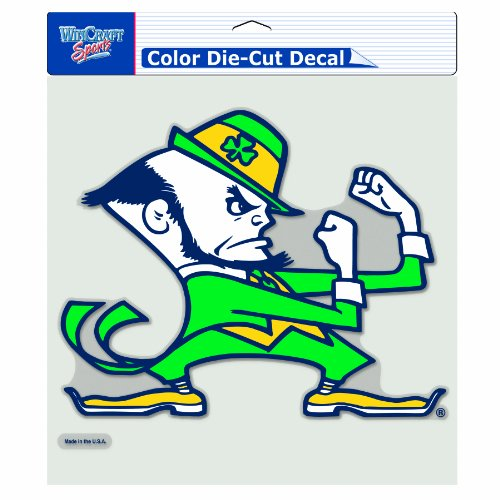 Ncaa notre dame fighting irish 8 by 8 inch diecut for Notre dame fighting irish coloring pages