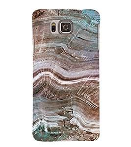 PrintVisa Marble Pattern 3D Hard Polycarbonate Designer Back Case Cover for Samsung Galaxy Alpha