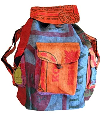 Amazon.com: Large Colorful Recycled Rice Bag Backpack