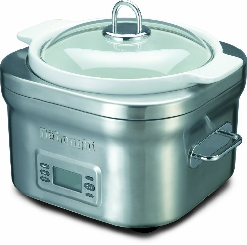 Digital Slow Cookers: DeLonghi DCP707 Stainless-Steel Programmable 5-Quart Slow Cooker