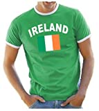 Coole-Fun-T-Shirts Ireland Ringer Men's T-Shirt green Size:XXL