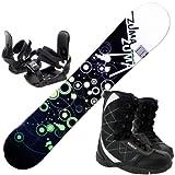 3点セットスノーボード☆ZUMA WAVE-9 金具付き ブーツ付き (グリーン150cm, ブーツ26.0cm)