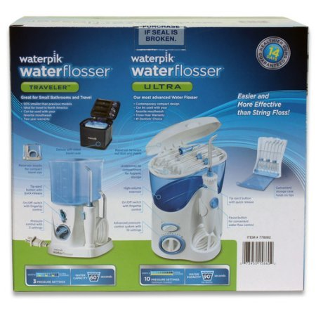 waterpik waterflosser ultra and waterpik traveler flosser plus 12 accessory tips tip storage. Black Bedroom Furniture Sets. Home Design Ideas