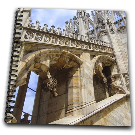 3dRose db_112234_1 Milan Cathedral, Duomo Milano, Architecture-Drawing Book, 8 by 8-Inch