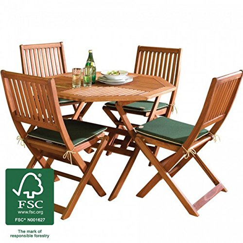 holz gartenm bel set 4 sitz folding patio tisch und. Black Bedroom Furniture Sets. Home Design Ideas