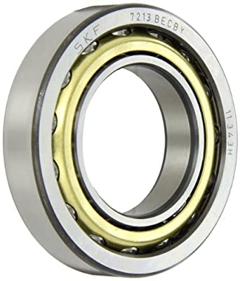 SKF 7213 BECBY Light Series Angular Contact Ball Bearing, Universal Mounting, ABEC 1 Precision, 40° Contact Angle, Open, Brass Cage, Normal Clearance, 65mm Bore, 120mm OD, 23mm Width