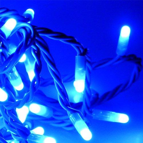 10m Lichterkette – 120 LED in BLAU – für außen