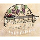 Vineyard Scrolling Metalwork Wine Glass Rack