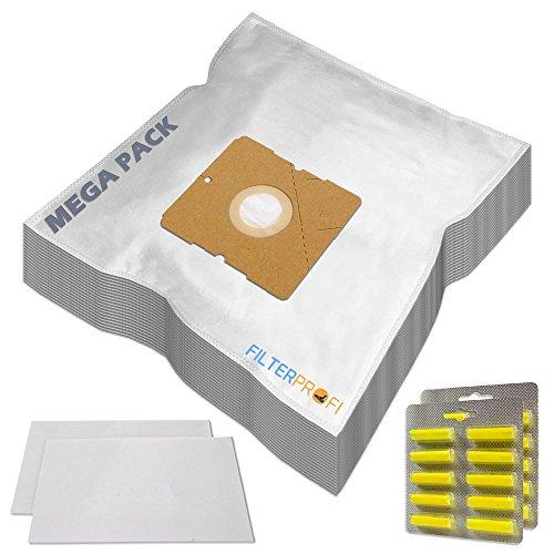 SPARSET 20 Staubsaugerbeutel / Staubbeutel / Filtertüten + 20 Duft geeignet für AEG / Electrolux AE 3400 bis 3499 Ingenio, AE 3450 / AE3450, AE 3450 Ingenio, AE 3455 Ingenio