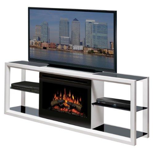 Dimplex Novara Media Console with 25 Inch Electric Firebox, White, SAP-300-W