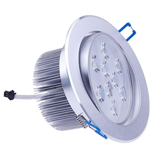 Dn Dimmable 12X1W Led Ceiling Light Downlight Recessed Lighting Decoration White