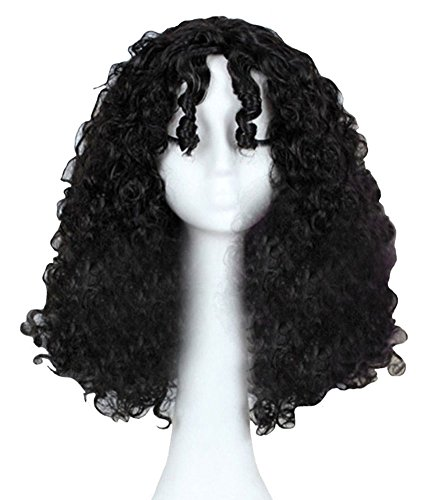 DAYISS Mother Gothel Long Black Curly Wave Hair Cosplay Costume Wig