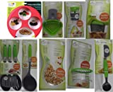 Jokari Healthy Steps Portion Control Diet / Weight Loss 11pc Utensil Kitchen Tool Set with Meal Measure Portion Control Tool Bundle