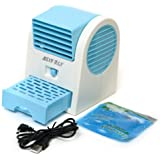 Mini Handheld Portable Fan Air Conditioning Conditioner Water Cool Cooler USB Blue
