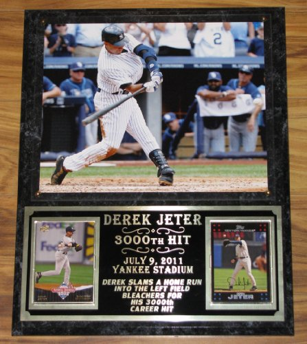 DEREK JETER 3000 HIT PHOTO COLLECTOR PLAQUE NEW YORK YANKEES at Amazon.com