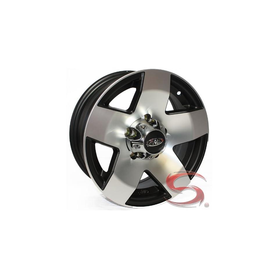 15x6 Phat Star Aluminum Trailer Wheel, 6 on 5.50 with Center Cap
