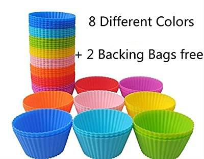Reusable Nonstick Silicone Molds Baking Cups Cupcake Liners Muffin Cups Chocolate Holders