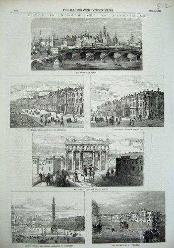 SiegesTor 1856 Moskaus Petersburg der Kreml Russland